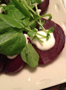 Beets with Sauce
